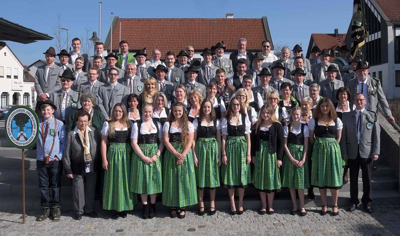 Mitglieder des Sportschützenvereins Drei Buchen Reichertshausen