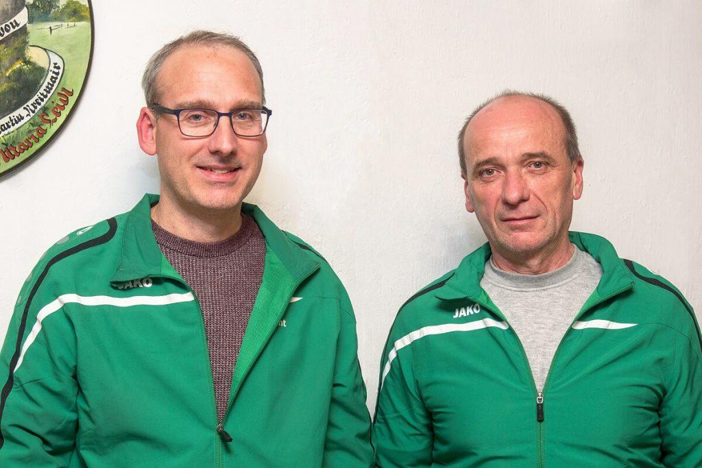 Unsere Sportleiter Wolfgang Kistler und Reinhold Wingert